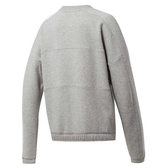 Reebok Womens MYT Crew Sweatshirt, Grey, rebel_hi-res