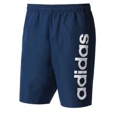 adidas Mens Essential Chelsea Shorts Navy / White S, Navy / White, rebel_hi-res