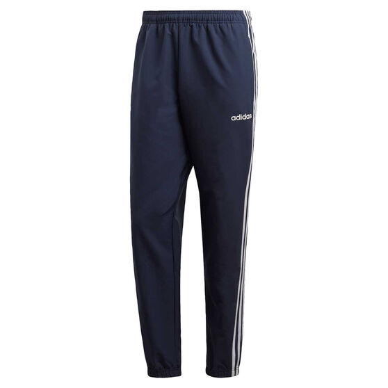 adidas Mens Essential 3-Stripes Team Wind Pants, Blue / Navy, rebel_hi-res