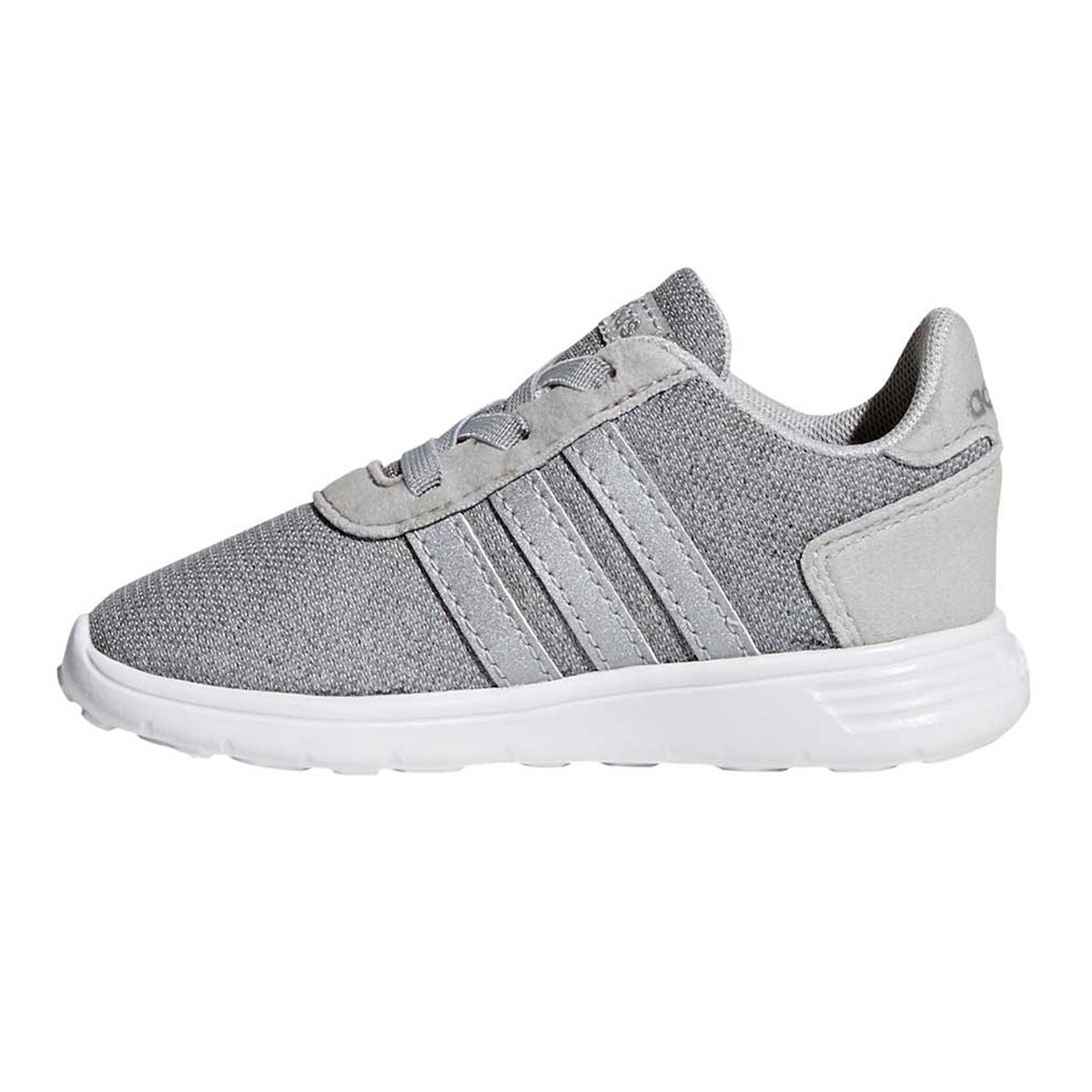 Adidas Stylish Silver Sports Shoes with Lace up Closure