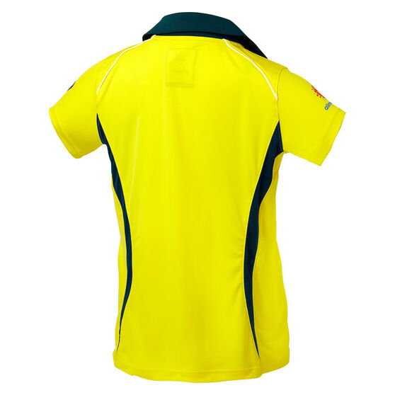 Cricket Australia 2018/19 Kids ODI Home Shirt Yellow 14, Yellow, rebel_hi-res