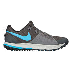 Nike Air Zoom Wildhorse 4 Mens Trail Trail Running Shoes Grey / Blue US 7, Grey / Blue, rebel_hi-res