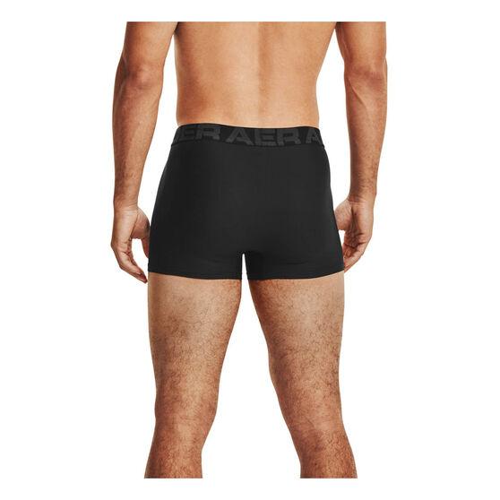 Under Armour Mens Tech 3in 2 Pack Underwear, Black, rebel_hi-res