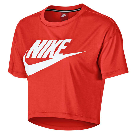 Nike Womens Essential Cropped Tee Red XL, Red, rebel_hi-res