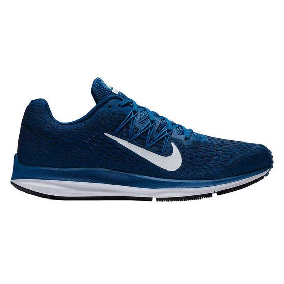 Nike Zoom Winflo 5 Mens Running Shoes Blue / White US 10, Blue / White, rebel_hi-res