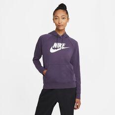 Nike Womens Sportswear Essential Fleece Pullover Hoodie, Purple, rebel_hi-res