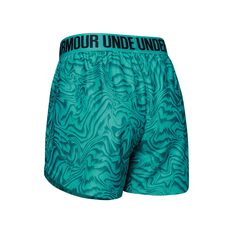 Under Amour Girls Play Up Printed Shorts Blue XS, Blue, rebel_hi-res