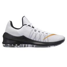 Nike Air Max Infuriate 2 Mens Basketball Shoes White / Gold US 7, White / Gold, rebel_hi-res