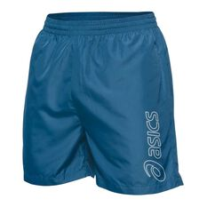 Asics Mens Essential Logo 5in Training Shorts Navy S Adult, Navy, rebel_hi-res