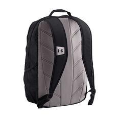 Under Armour Hustle Backpack Black / Silver, , rebel_hi-res