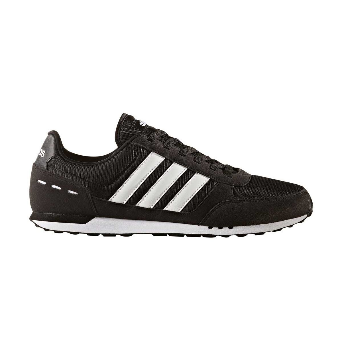 adidas Neo City Racer Mens Casual Shoes Black / White US 10