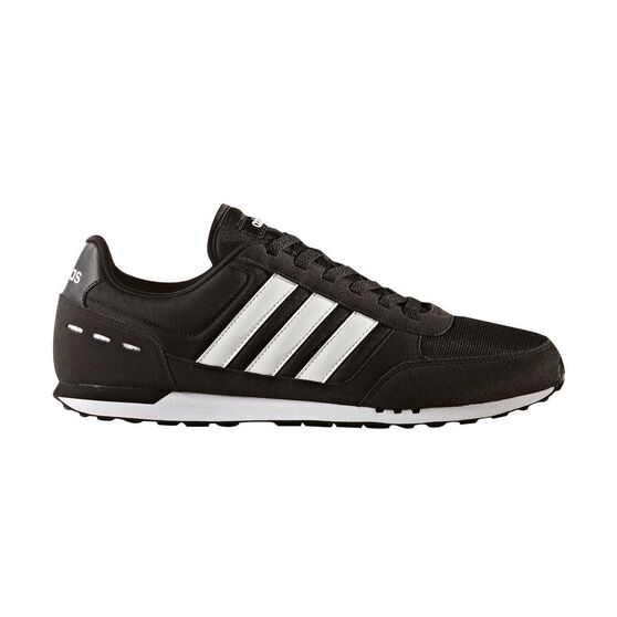 adidas Neo City Racer Mens Casual Shoes Black   White US 9  7d159c486