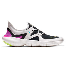 Nike Free RN 5.0 Mens Running Shoes White / Yellow US 8.5, White / Yellow, rebel_hi-res