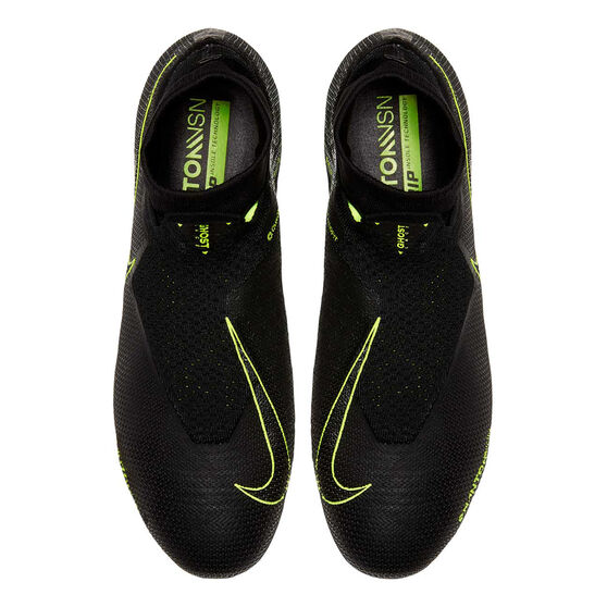 Nike Phantom Vision Elite Dynamic Fit Football Boots, Black / Yellow, rebel_hi-res