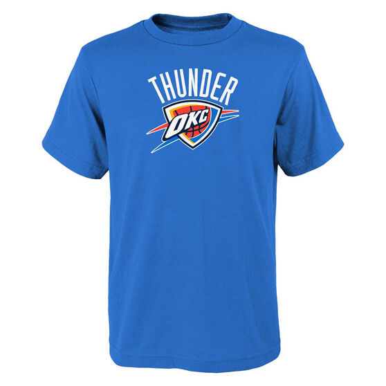 Oklahoma City Thunder Kids Primary Logo Tee, Blue, rebel_hi-res