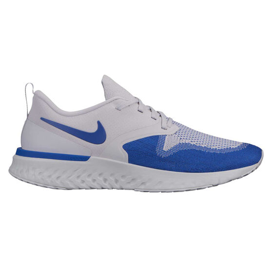 Nike Odyssey React Flyknit 2 Mens Running Shoes, Grey / Blue, rebel_hi-res
