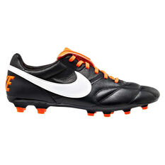 Nike Premier II Mens Football Boots Black / Orange US Mens 7 / Womens 8.5, Black / Orange, rebel_hi-res