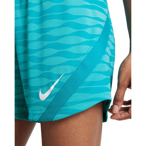 Nike Womens Dri-FIT Strike Knit Soccer Shorts, Blue, rebel_hi-res