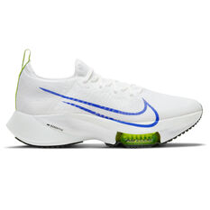 Nike Air Zoom Tempo Next% Mens Running Shoes White/Blue US 7, White/Blue, rebel_hi-res