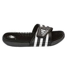 adidas Adissage Mens Slides Black US 10, Black, rebel_hi-res