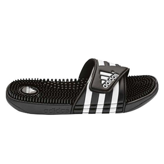 adidas Adissage Mens Slides Black US 11, Black, rebel_hi-res