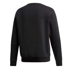 adidas Mens 3-Stripes Sweatshirt Black XS, Black, rebel_hi-res