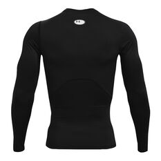 Under Armour Mens HeatGear Armour Compression Top, Black, rebel_hi-res