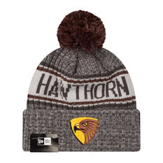 Hawthorn Hawks New Era 6 Dart Cuff Beanie, , rebel_hi-res