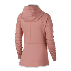 Nike Sportswear Womens Tech Fleece Hoodie Pink XS, Pink, rebel_hi-res