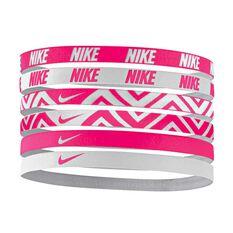 Nike Printed Headbands 6 Pack Assorted OSFA, , rebel_hi-res