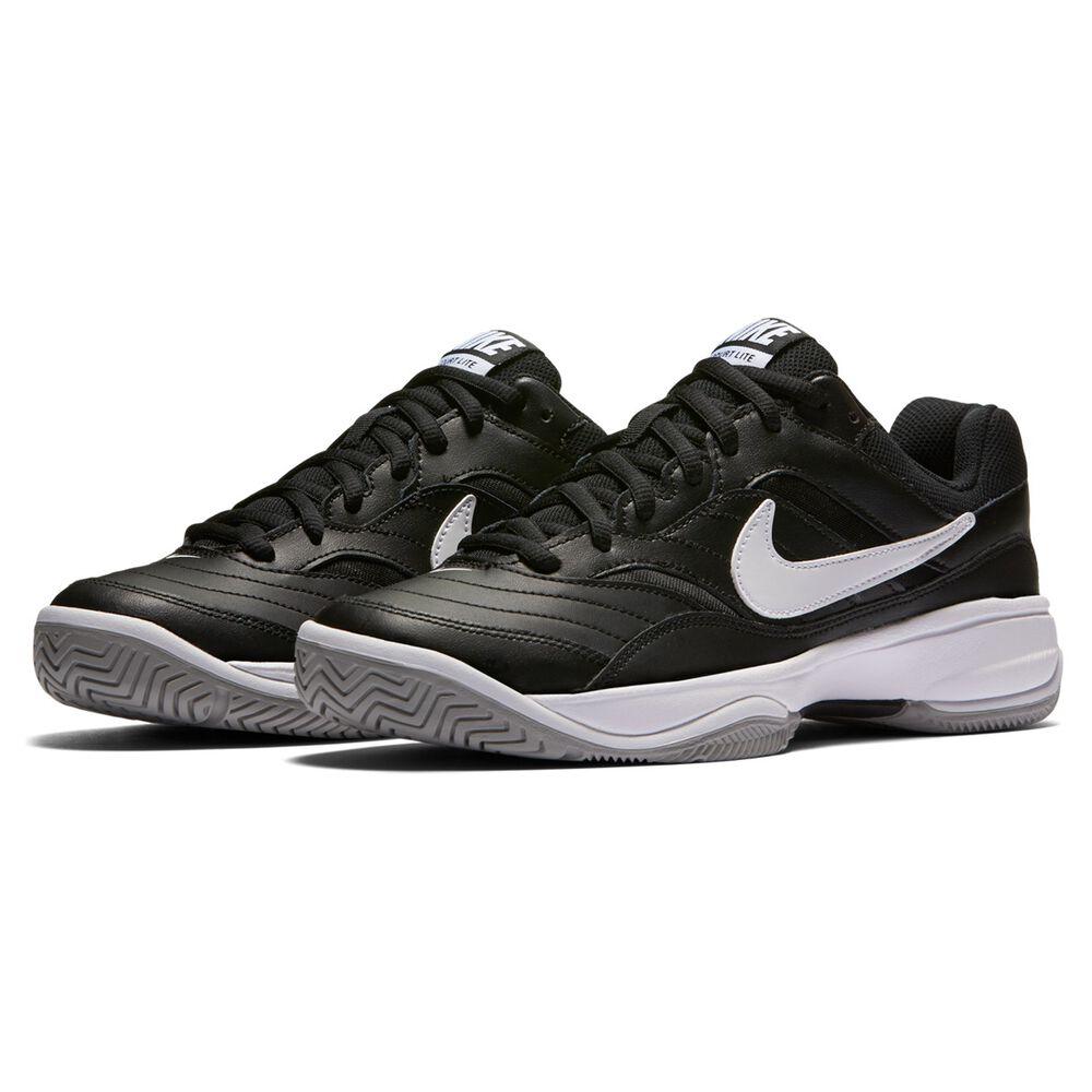 3d76b5dd Nike Court Lite Mens Tennis Shoes Black / White US 7   Rebel Sport