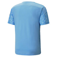 Manchester City 2020/21 Mens Home Jersey Blue S, Blue, rebel_hi-res