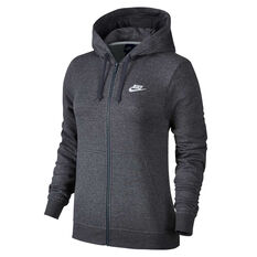 Nike Womens Sportswear Fleece Hoodie Grey XS, Grey, rebel_hi-res