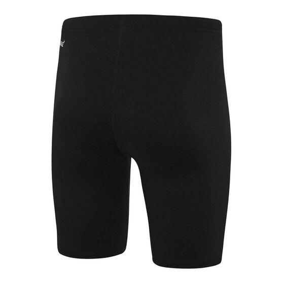 Speedo Mens Basic Waterboy Swim Shorts, Black, rebel_hi-res