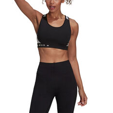 adidas Womens Karlie Kloss Believe This Sports Bra, Black, rebel_hi-res