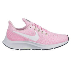 Nike Air Zoom Pegasus 35 Kids Running Shoes Pink / White US 1, Pink / White, rebel_hi-res