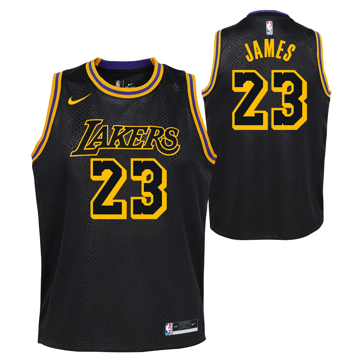 Nike Los Angeles Lakers LeBron James 2020/21 Kids Mamba City Edition Jersey