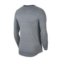 Nike Mens Dri-FIT Miler Long Sleeve Training Tee Grey S, Grey, rebel_hi-res