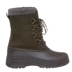 Tahwalhi Park Mens Snow Boots Black 8, Black, rebel_hi-res