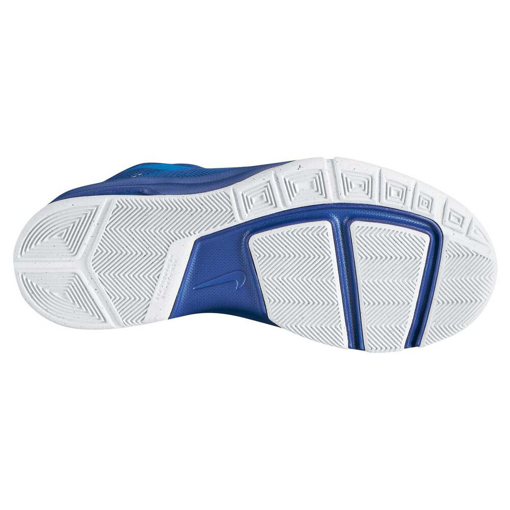 c8313fcc66aa Nike Air Devosion Boys Basketball Shoes White   Blue US 6