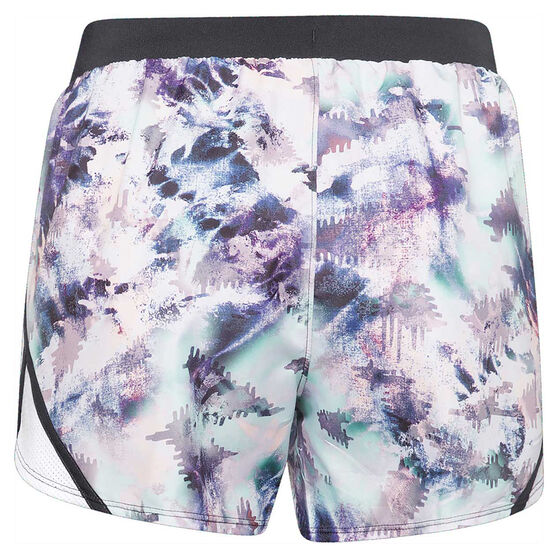 Under Armour Womens Fly By 2.0 Printed Shorts, Blue, rebel_hi-res