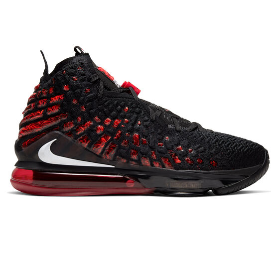 Nike LeBron XVII Mens Basketball Shoes Black / White US 10.5, Black / White, rebel_hi-res