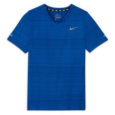 Nike Boys Dri Fit Miler Tee, Blue, rebel_hi-res