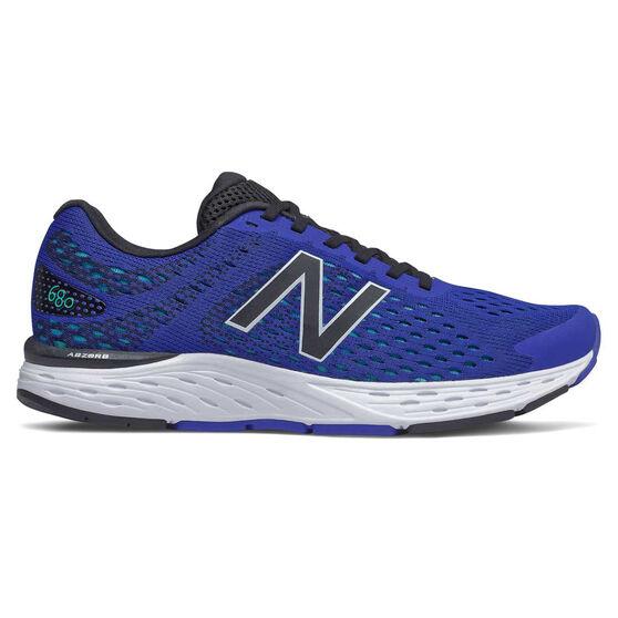 New Balance 680v6 2E Mens Running Shoes, Blue/Black, rebel_hi-res