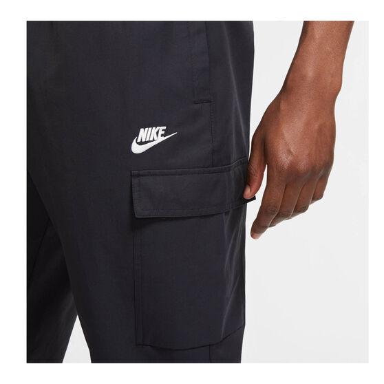 Nike Mens Sportswear Woven Track Pants, Black, rebel_hi-res
