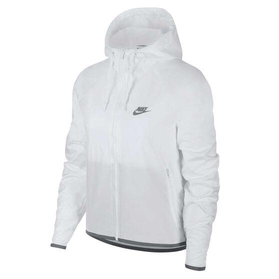 Nike Womens Sportswear Windrunner Jacke, White, rebel_hi-res