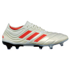 adidas Copa 19.1 Mens Football Boots White / Red US Mens 7 / Womens 8, White / Red, rebel_hi-res