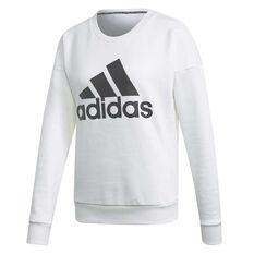 adidas Womens Badge Of Sport Sweatshirt White XS, White, rebel_hi-res