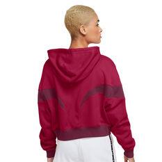Nike Air Womens Sportswear Full Zip Hoodie Red XS, Red, rebel_hi-res