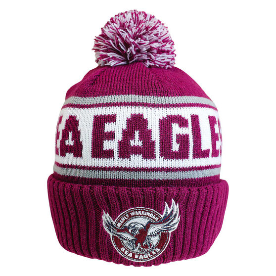 Manly Warringah Sea Eagles Striker Beanie, , rebel_hi-res